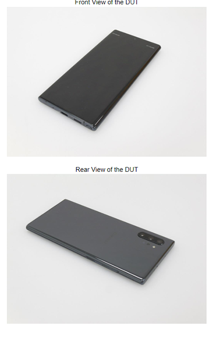Galaxy Note 10 front and back