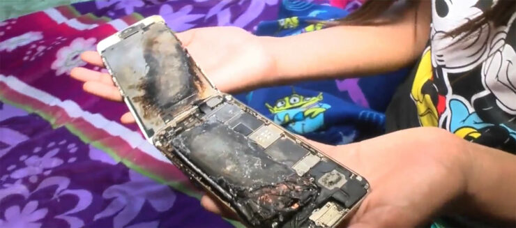 iPhone 6 explodes in minor's hands