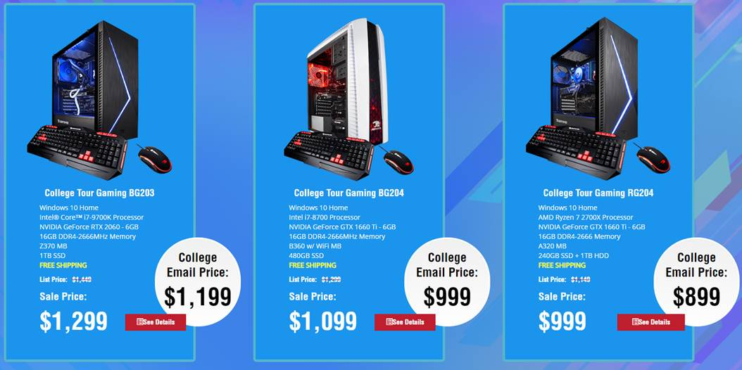 iBUYPOWER Offering Student Flash Sale Where Students Get