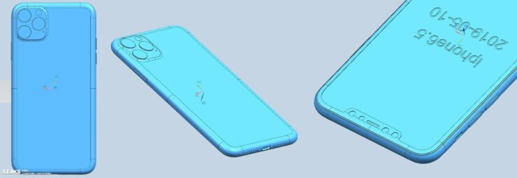 iPhone 11 CAD renders of all three upcoming models allegedly leaked