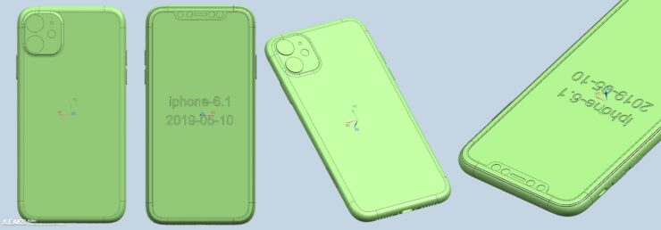 iPhone 11 CAD renders all models leak