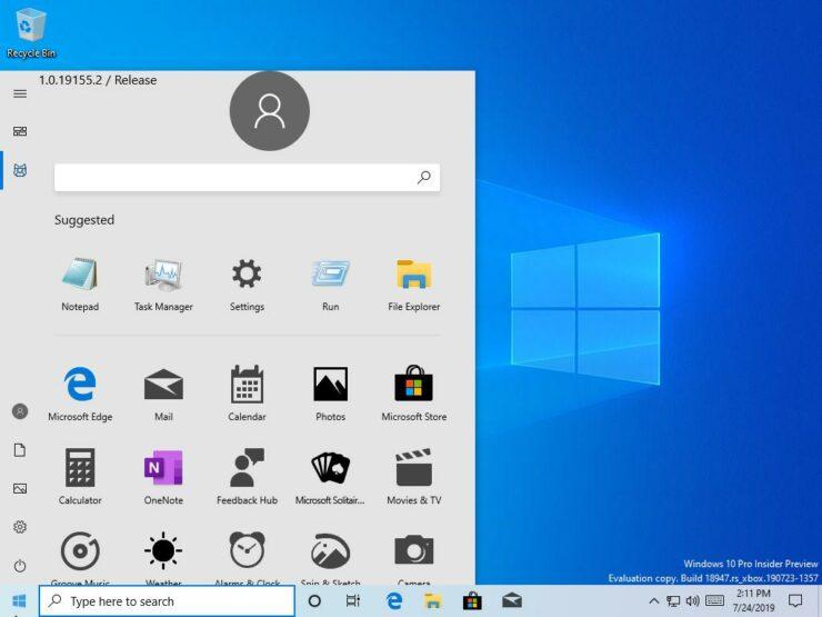 new windows 10 start menu live tiles