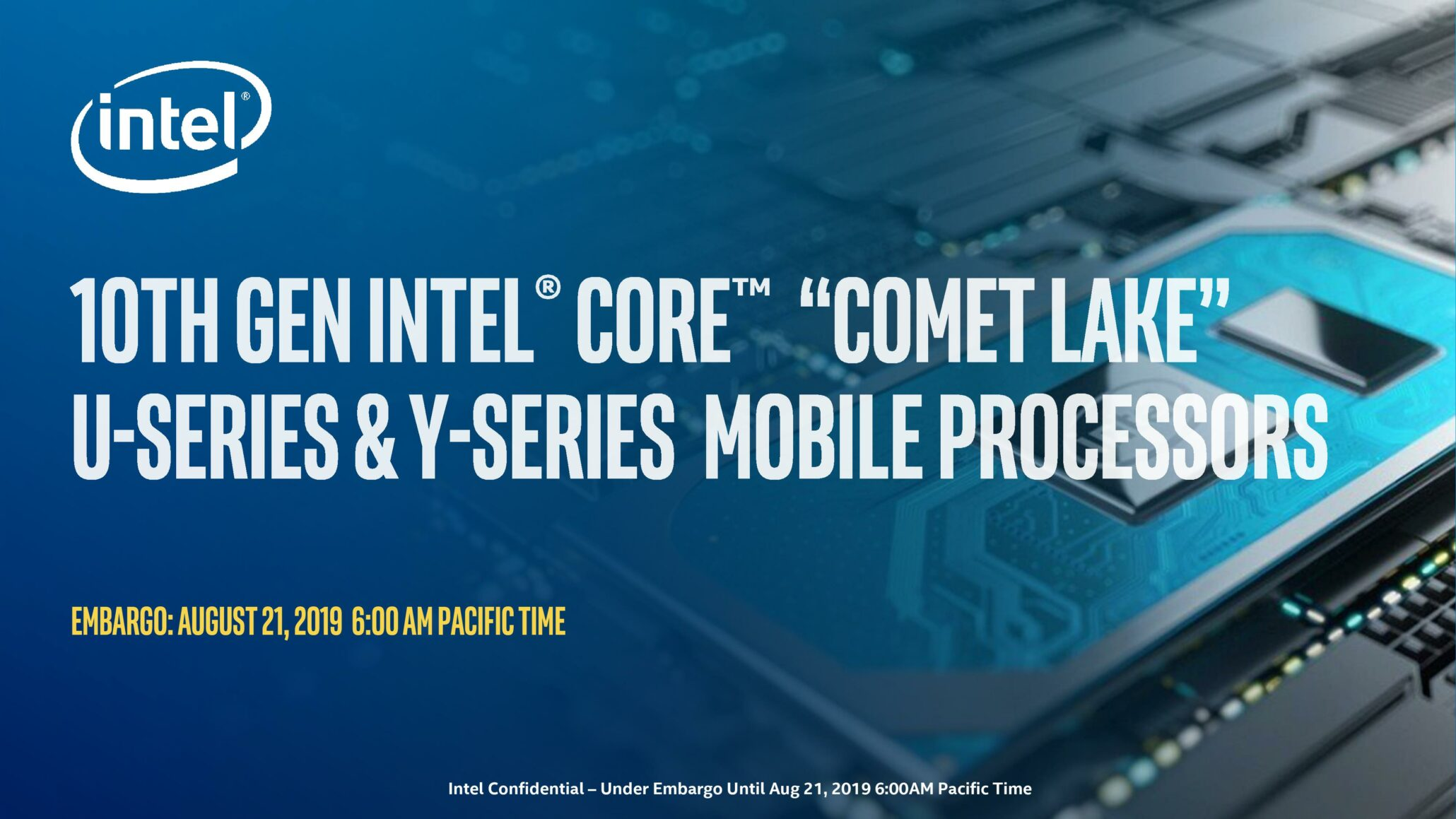 Intel Launches 10th Generation 'Comet Lake' Mobility