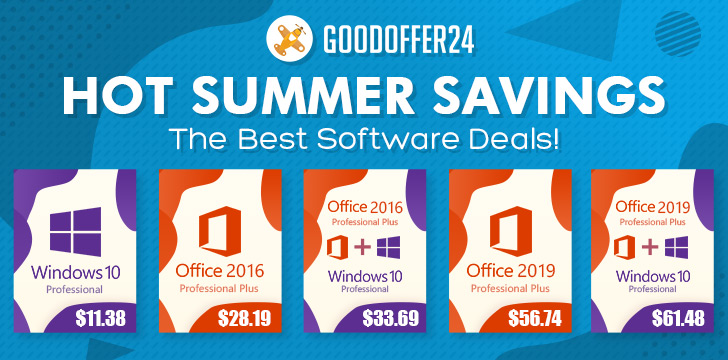 Summer Savings: Windows 10 Pro at $11 38, Office 2016 Pro at $28 19