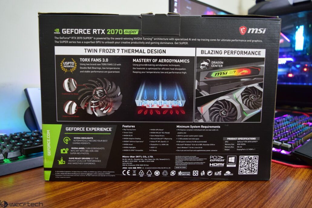 MSI GeForce RTX 2070 SUPER Gaming X 8 GB Graphics Card