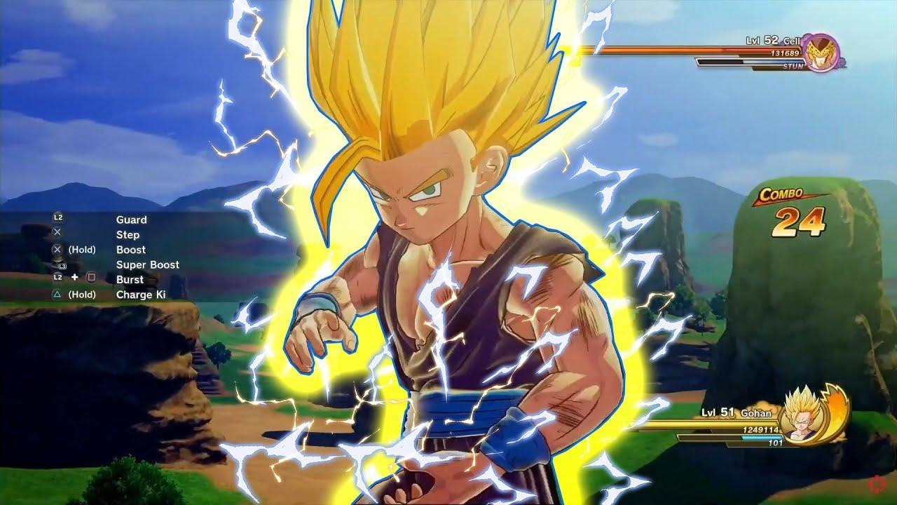 Dragon Ball Z Kakarot Cell Saga Gameplay Footage ssj2 gohan