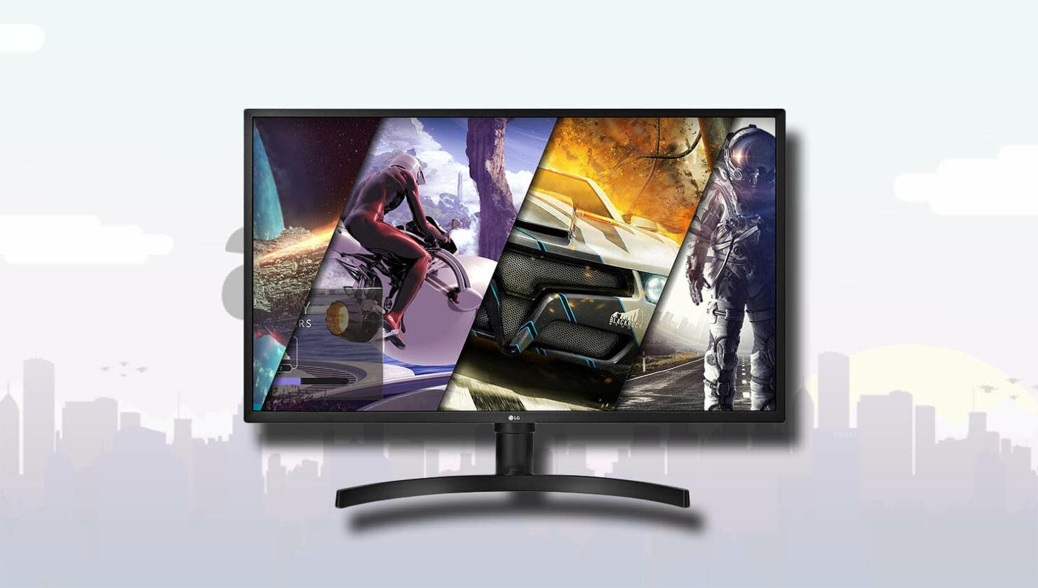LG 32UK550-B 32 Inch 4K UHD Monitor with Radeon FreeSync Technology and HDR10