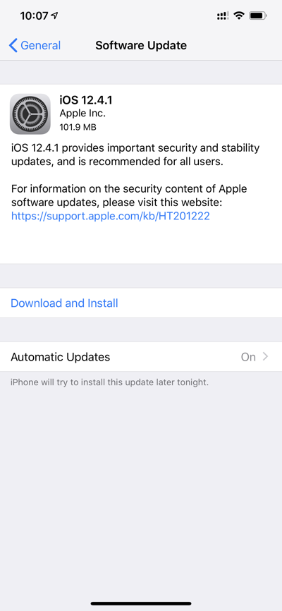 Download: iOS 12 4 1 for iPhone, iPad, iPod touch