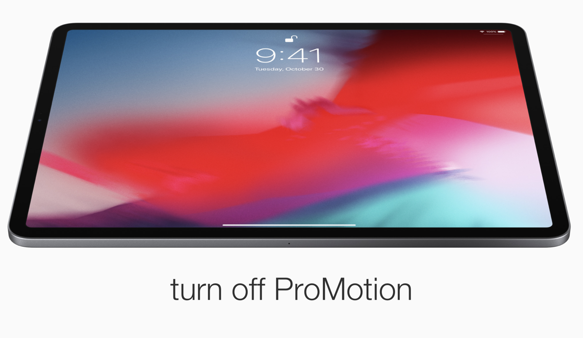 How To Turn Off Promotion On Ipad Pro