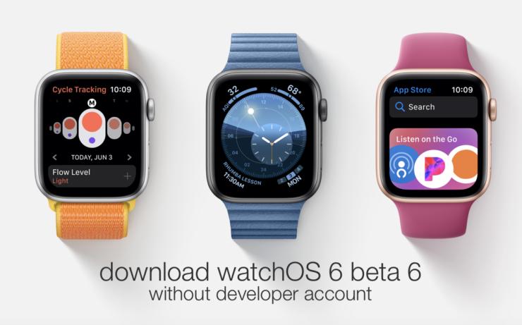 watchOS 6 beta 6