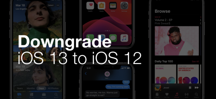 Downgrade iOS 13