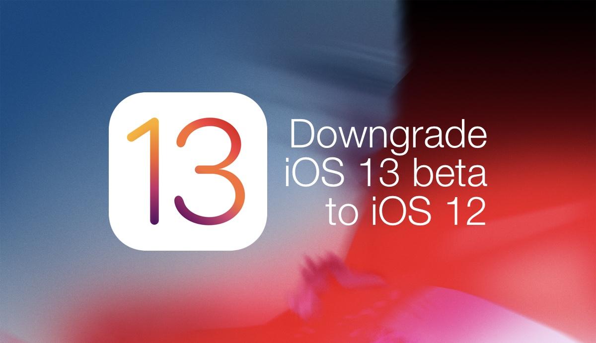 How to Downgrade iOS 13 1 Beta to iOS 12 on iPhone, iPad