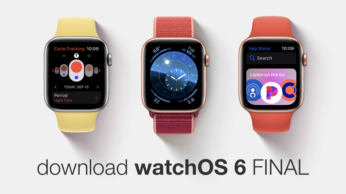 Download watchOS 6 final