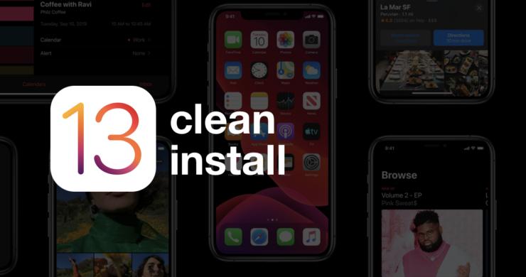 clean install iOS 13
