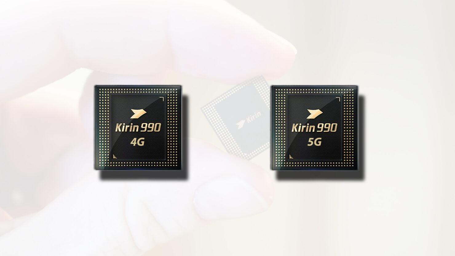 Kirin 990 4G vs Kirin 990 5G specification differences