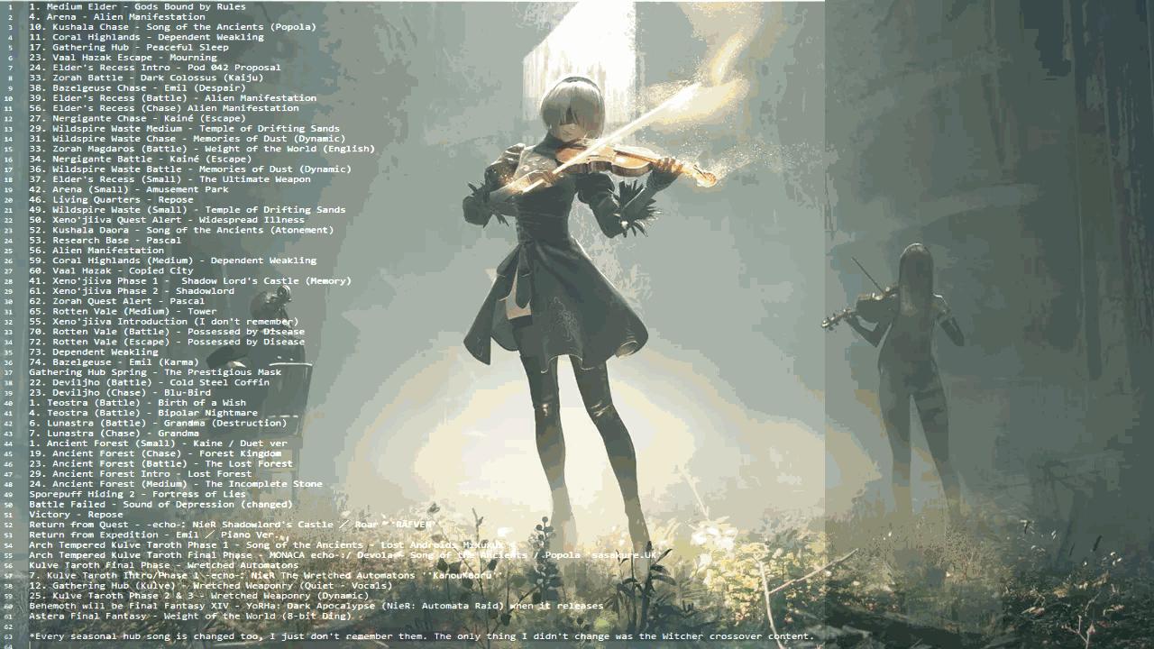 Monster Hunter World Nier Music mod