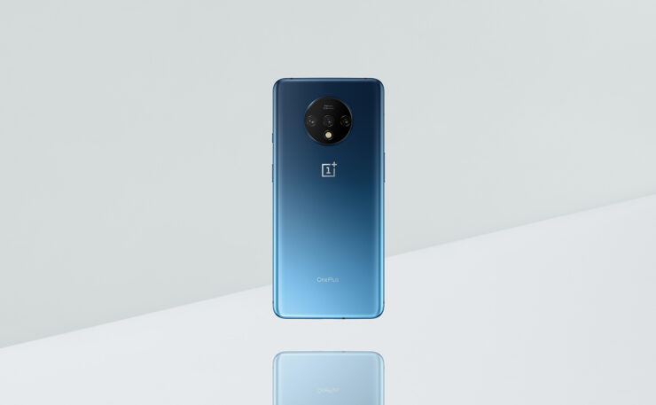 OnePlus 7T Official Images Shared by CEO in Nebula Blue