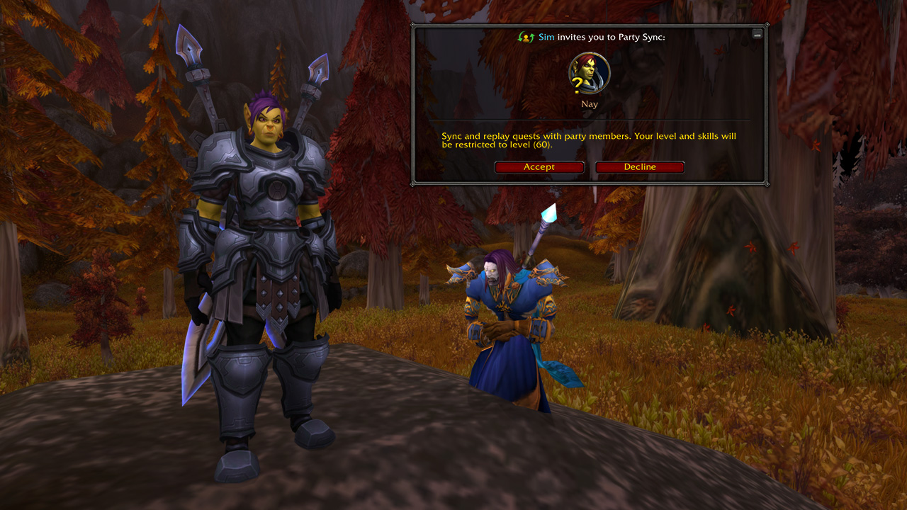 World of Warcraft Battle for Azeroth Patch 8.2.5 Party Sync