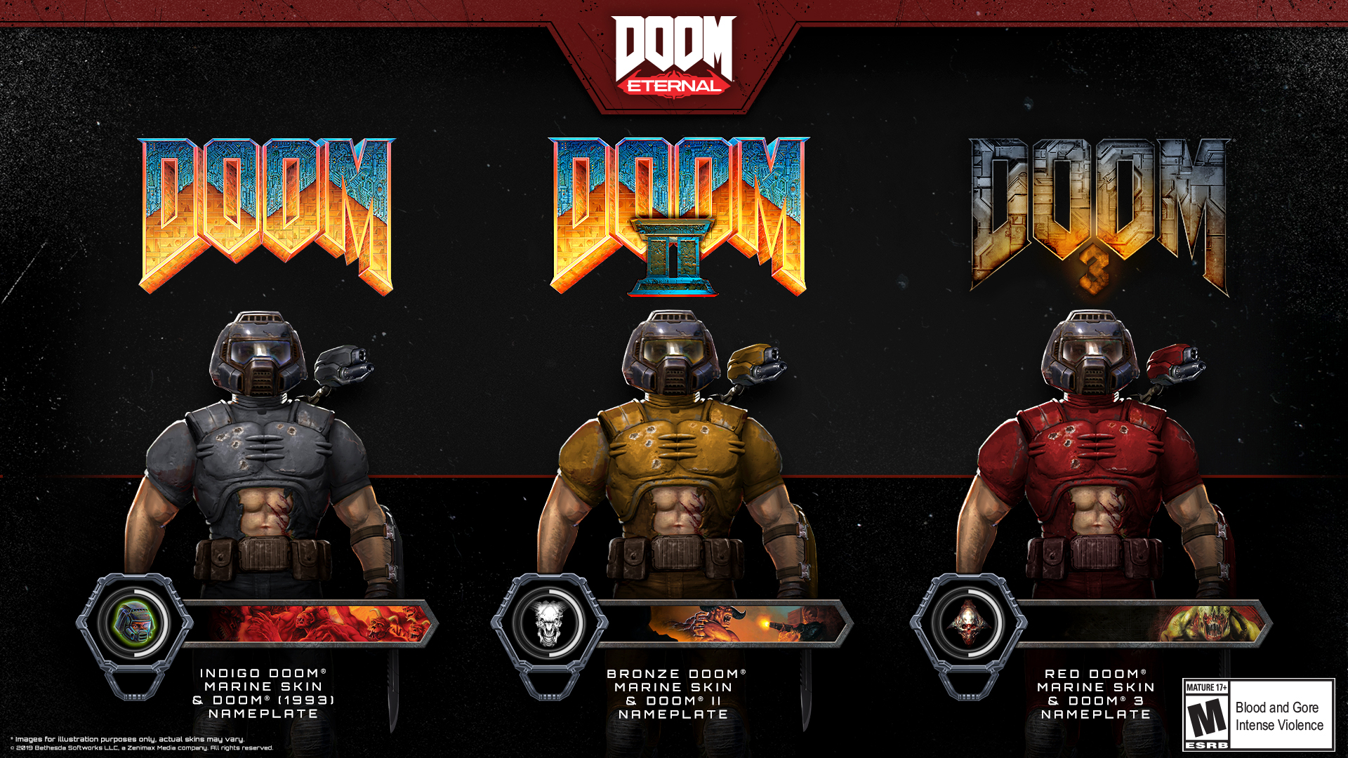 Bethesda Announces Classic Doom Eternal Skins Patches Released For Doom Doom Ii On Switch Ps4 Xbox