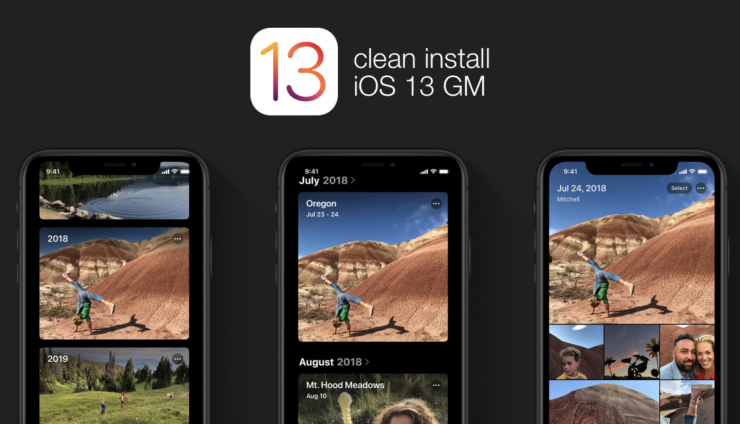 Clean Install iOS 13 GM