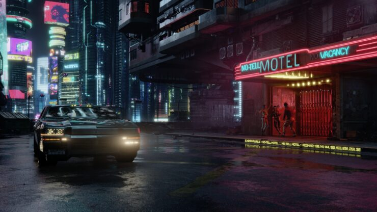 Night City Cyberpunk 2077 Motel