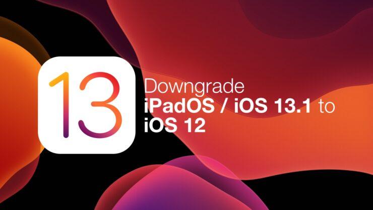 Downgrade iPadOS