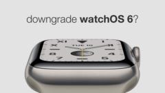 Downgrade watchOS 6