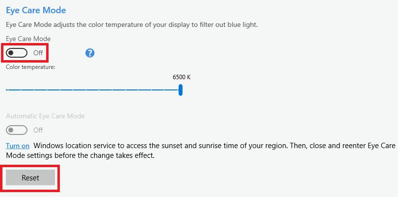 how to fix windows 10 orange tint