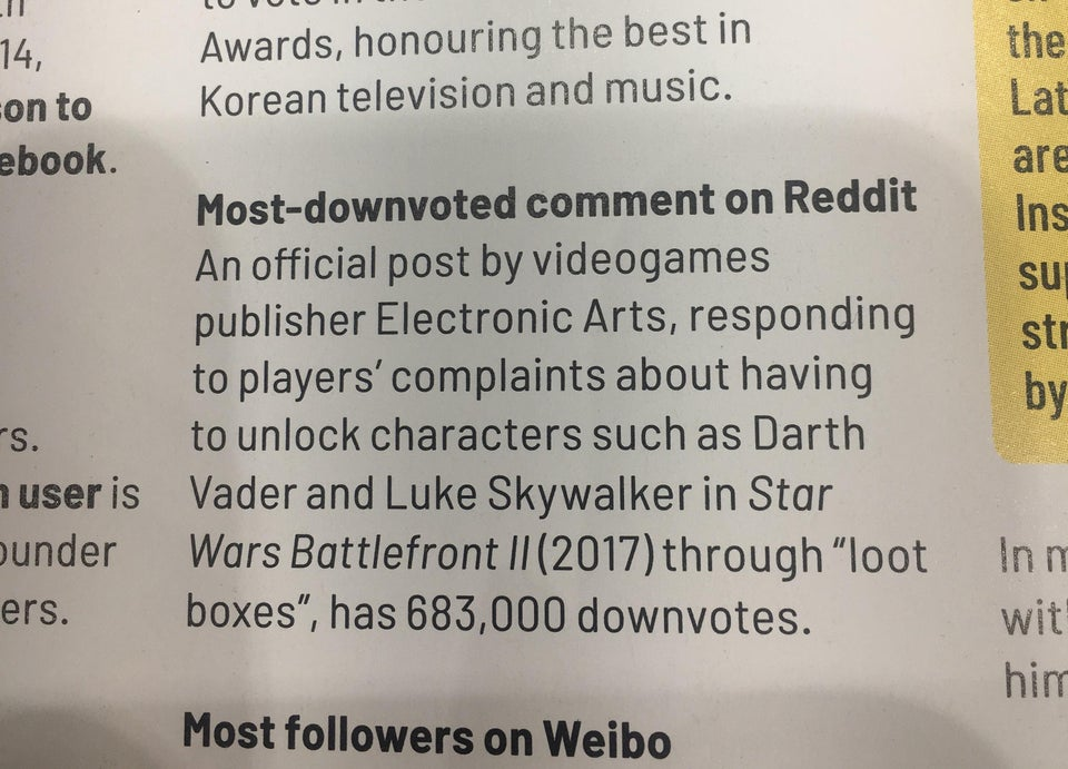 EA Gets Guinness World Record for Most Downvoted Reddit