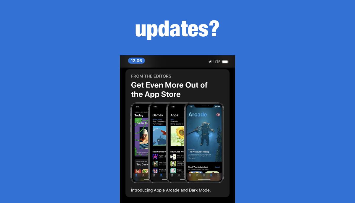 ios 13 apps update