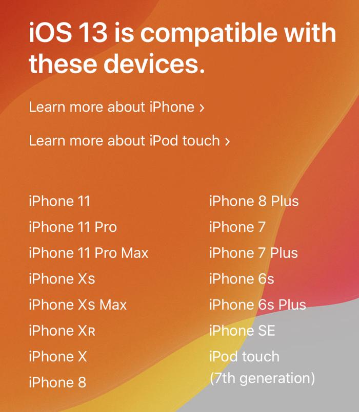 iOS 13 final