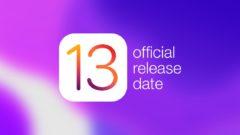 iPadOS 13 release date