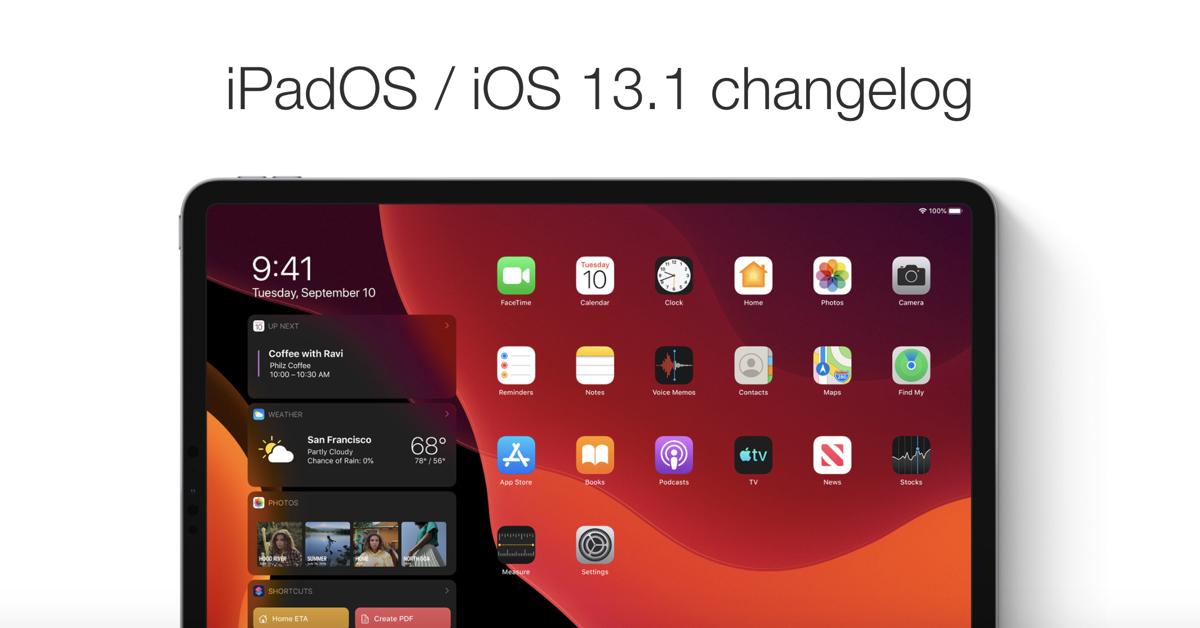 iPadOS changelog