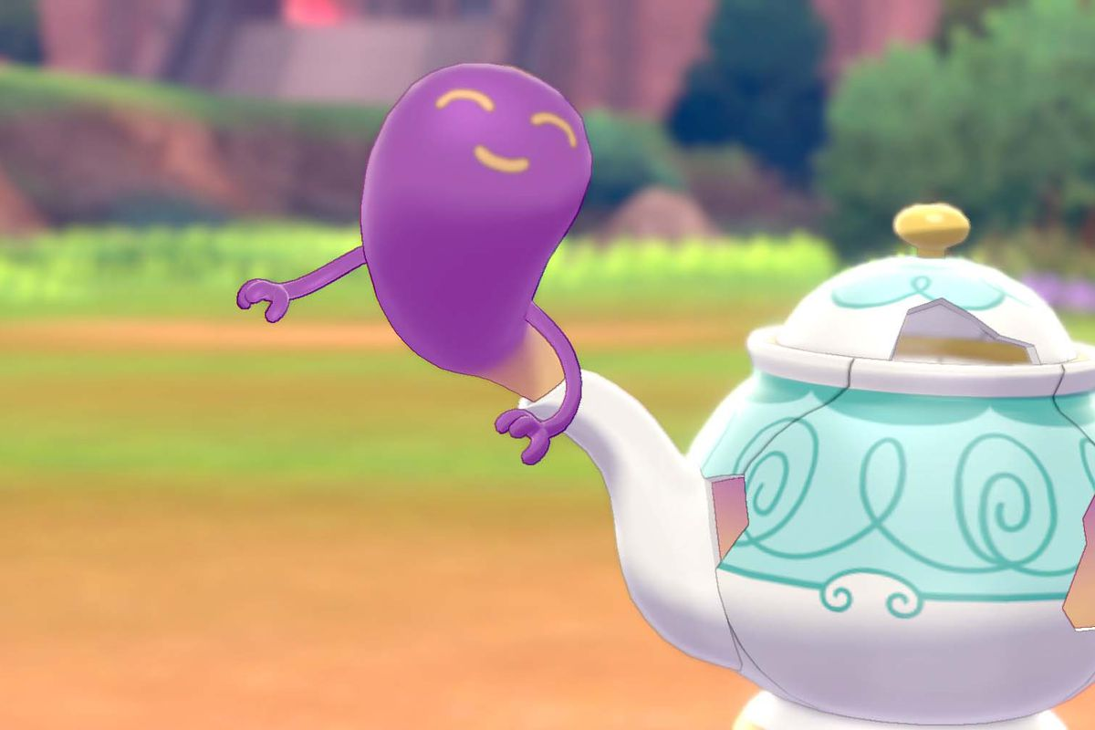 new pokemon sword and shield trailer polteageist clamorant