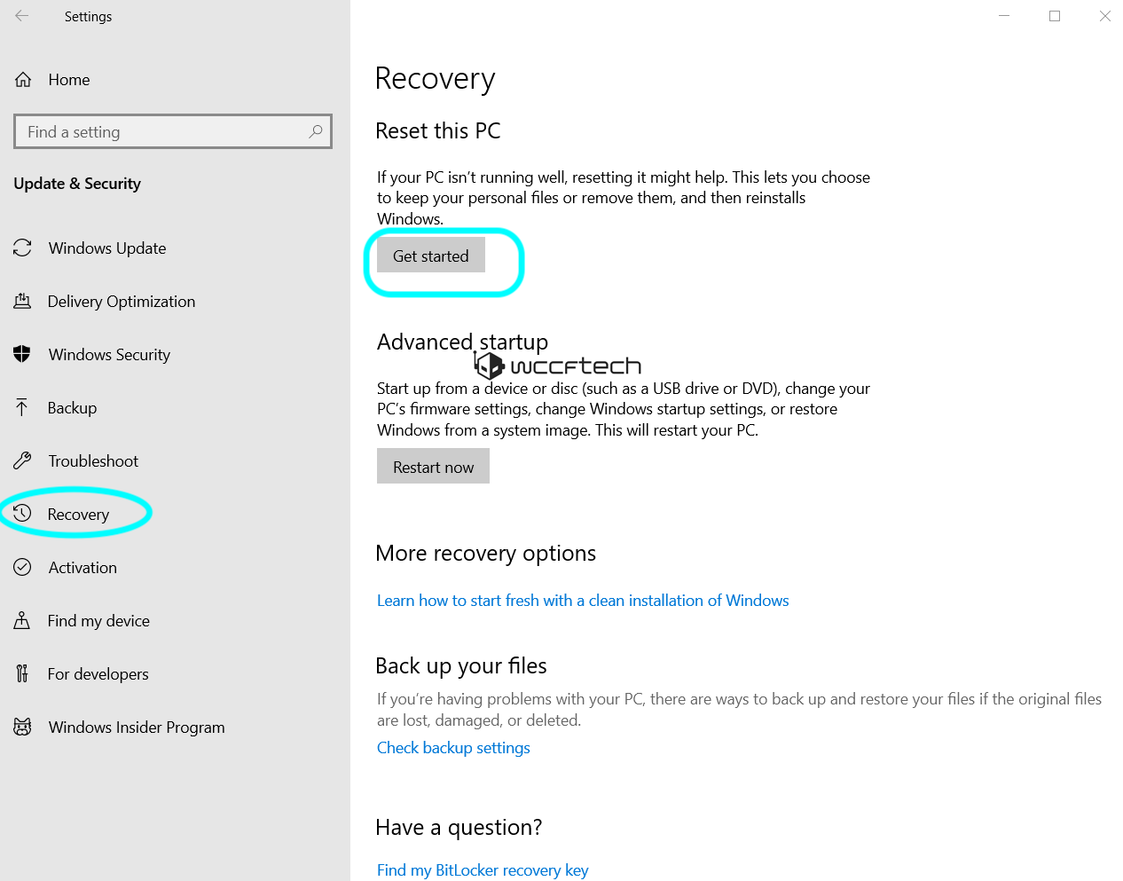 reset windows 10 cloud download