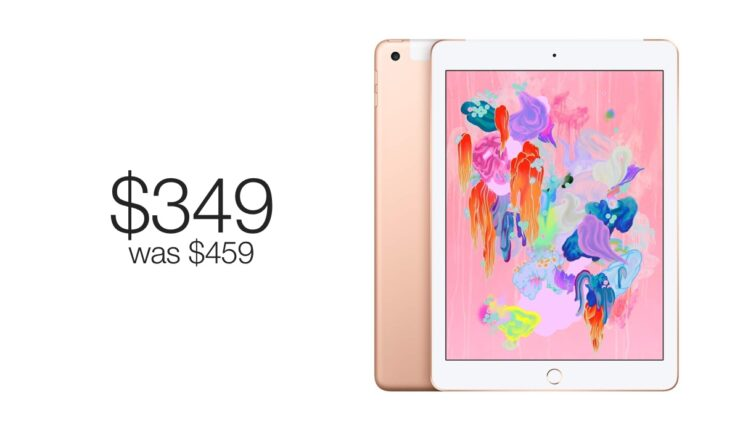 9.7-inch iPad on sale for just $349