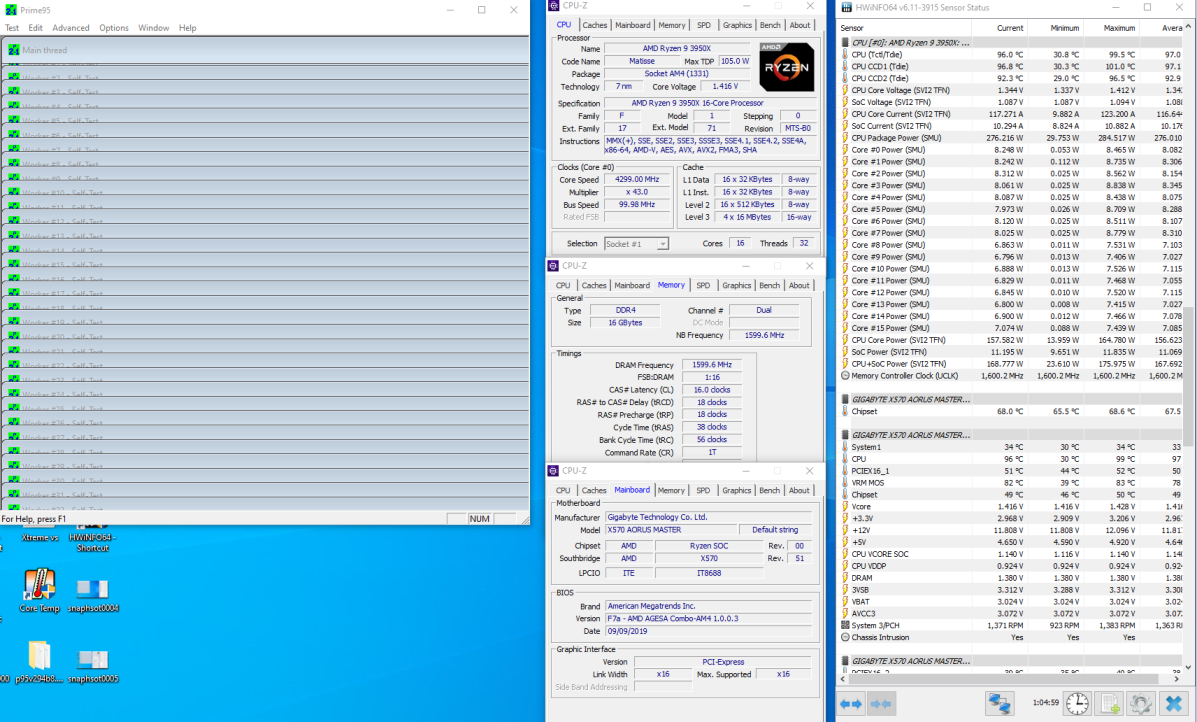 Amd Ryzen 9 3950x 16 Core Cpu Overclocking Detailed 4 3 Ghz At 1 4v