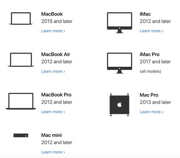 Verifica la compatibilità prima di installare macOS Catalina