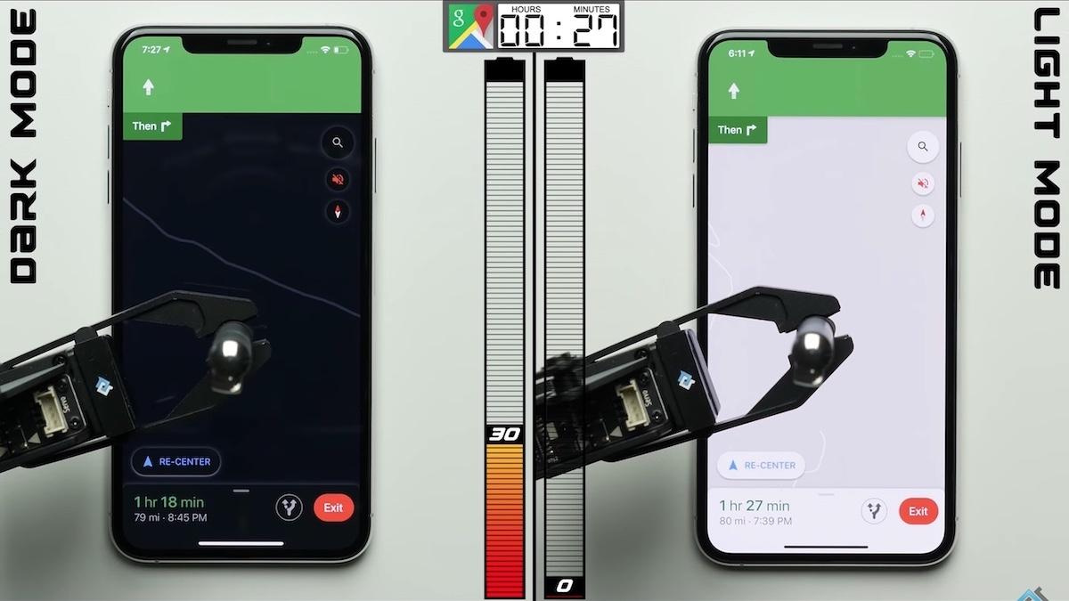 Dark Mode vs Light Mode Battery iPhone