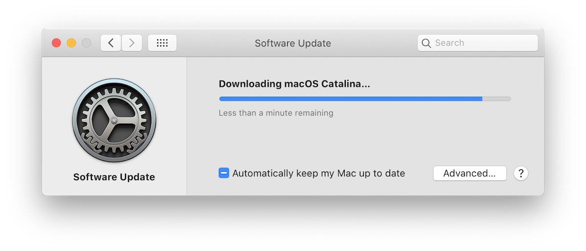 Downloading macOS Catalina