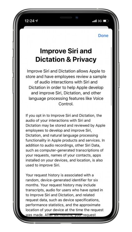 Improve Siri and Dictation and Privacy iOS 13.2
