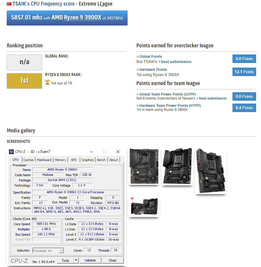 MSI MEG X570 Unify Motherboard Overclock With AMD Ryzen 9 3900X