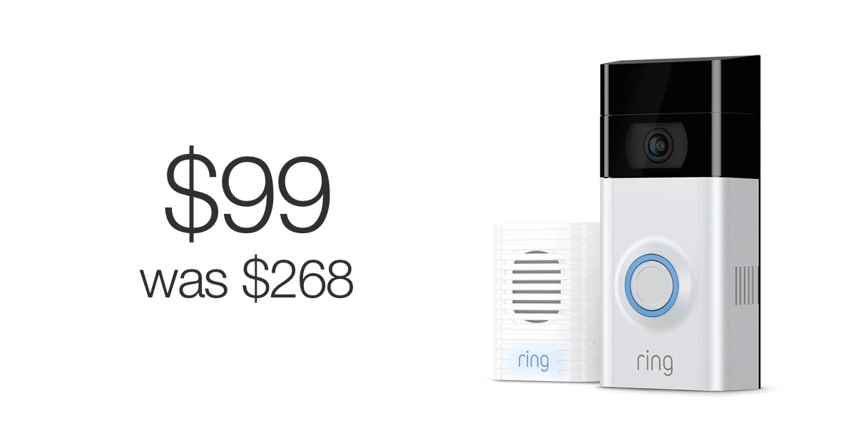 Ring Video Doorbell 2 + Ring Chime deal