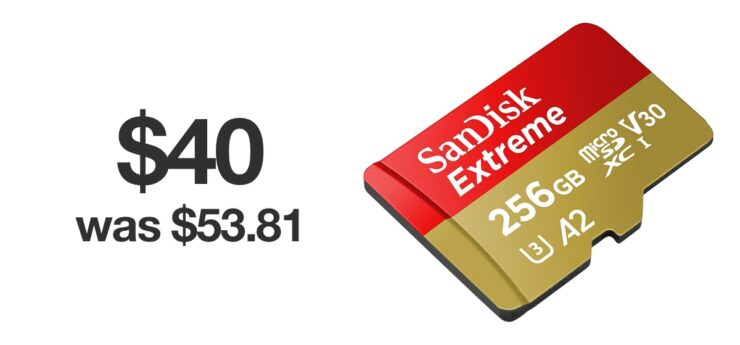 SanDisk Extreme 256GB microSD card on sale