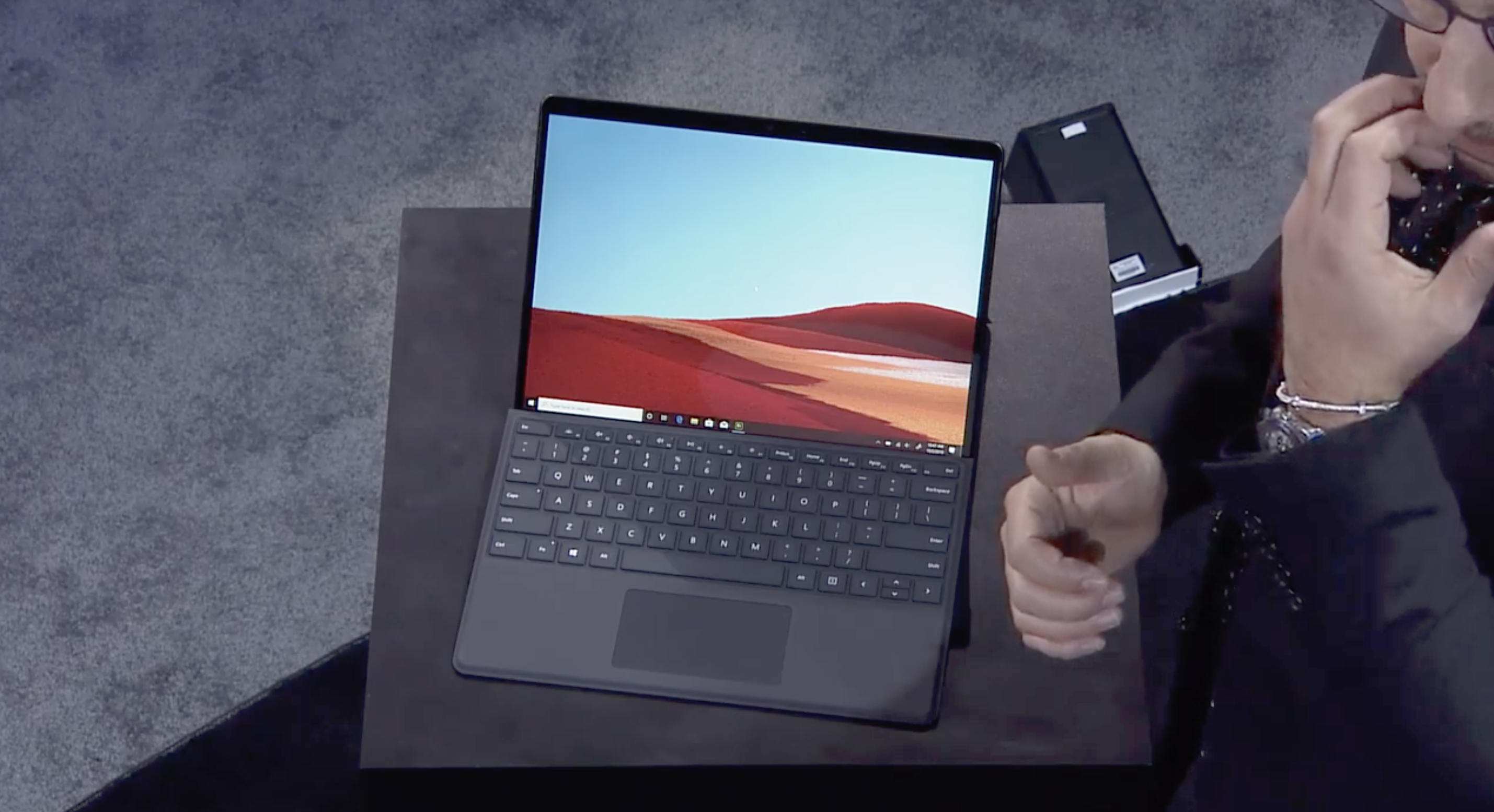 Surface Pro X at launch