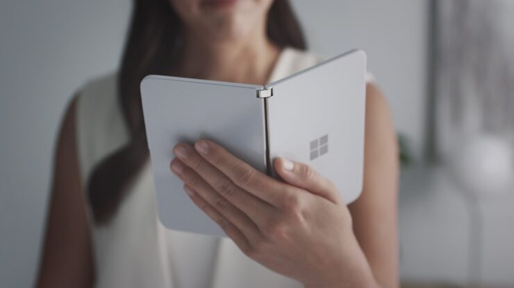 leaked Surface Duo book mode