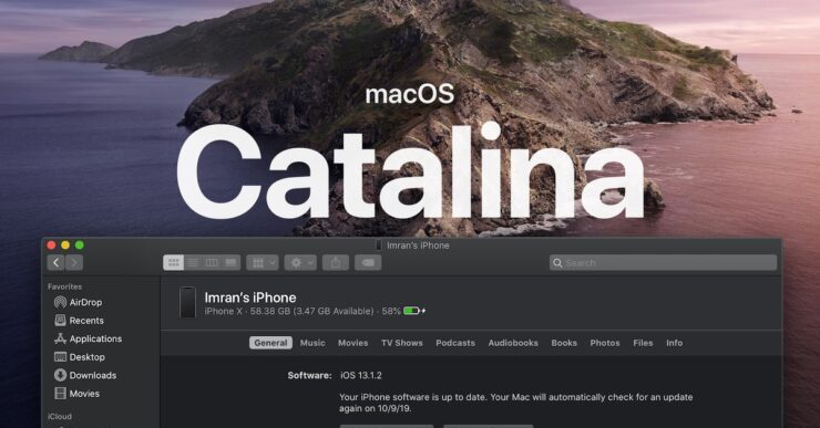Sync iOS devices with macOS Catalina