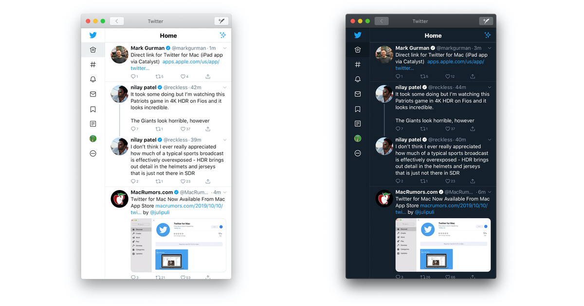 Twitter app for Mac Themes