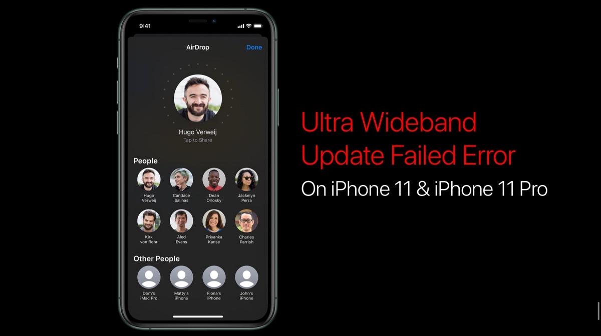 Ultra wideband update failed iPhone 11 Pro
