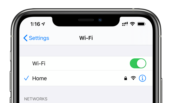 WiFi settings for low data mode